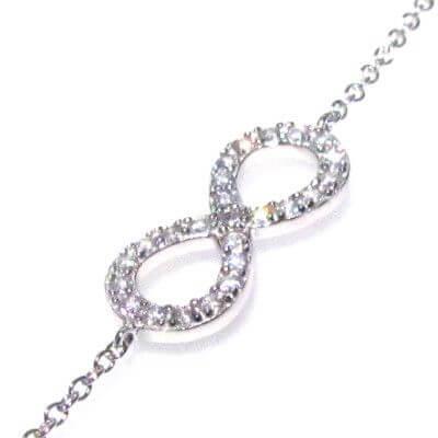 bracciale infinito in argento